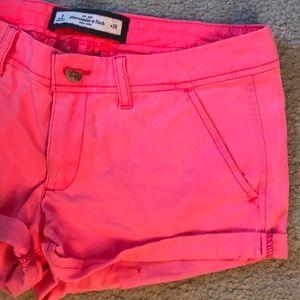 Abercrombie Pink khaki shorts